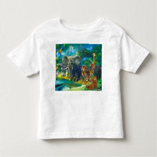 Tshirt crianças animais da selva