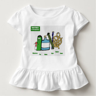 Tshirt Crianças unidas do T do plissado da criança de