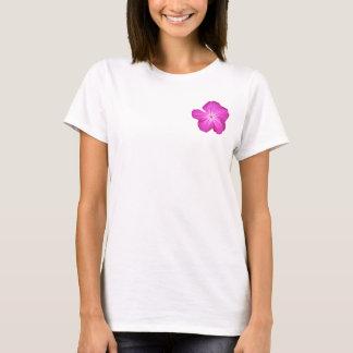 Tshirt customizável da criança de flor