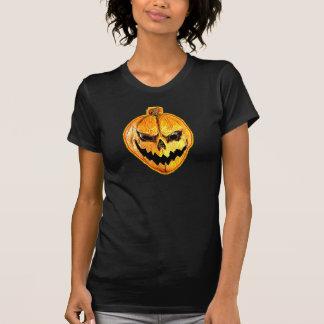 Tshirt da abóbora do crânio do Dia das Bruxas