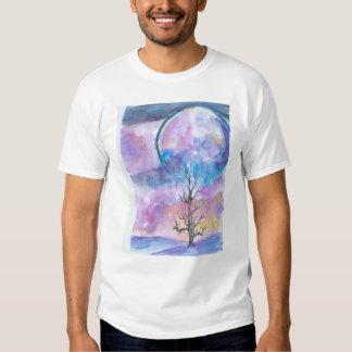 Tshirt da aguarela da lua