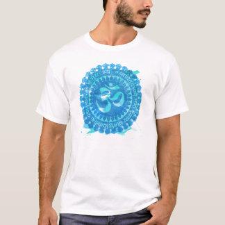 Tshirt da aguarela de Vintaged da mandala do OM