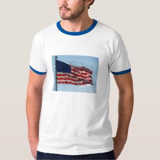 TShirt da arte da bandeira dos Estados Unidos