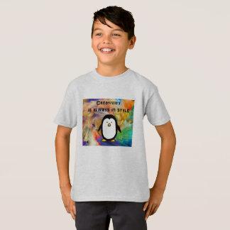tshirt da arte do pinguim