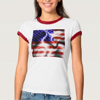 Tshirt da bandeira dos EUA da bandeira dos Estados