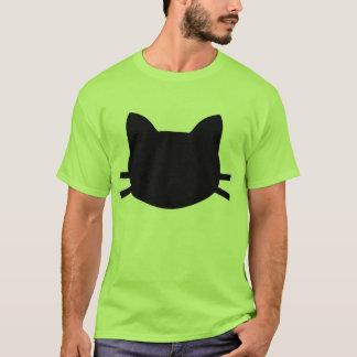 tshirt da cabeça do gato preto