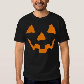 Tshirt da cara da abóbora do Dia das Bruxas