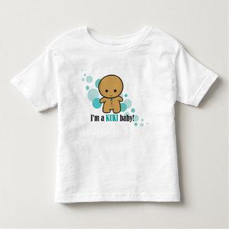 Tshirt da criança do bebê de Kuki - azul