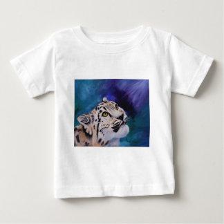 Tshirt da criança do leopardo de neve do bebê