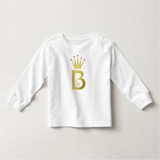 Tshirt da criança do monograma da letra da inicial
