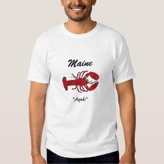 Tshirt da lagosta do vacationland do estado de