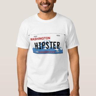 Tshirt da matrícula do hipster de Washington
