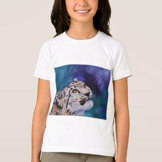 Tshirt das meninas do leopardo de neve do bebê