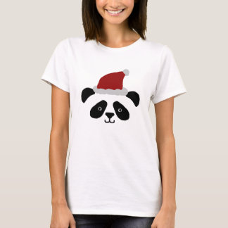 Tshirt das senhoras da panda do papai noel