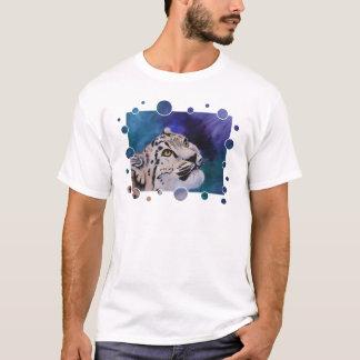 Tshirt das senhoras das bolhas do leopardo de neve