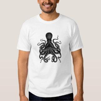 Tshirt de Cthulu do polvo do Victorian de
