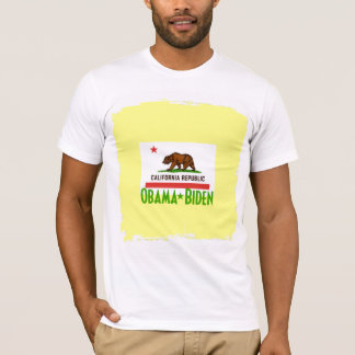 Tshirt de Obama Biden CALIFÓRNIA