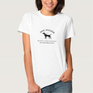 Tshirt de passeio do logotipo do cão preto &