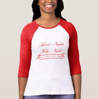 Tshirt de Slv do feriado 3/4 do Raglan das