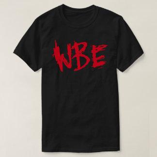 Tshirt de WBE vermelho & preto