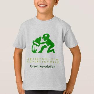 Tshirt Desperdício do verde do alfabeto
