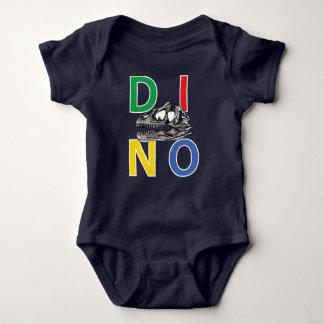 Tshirt DINO - Bodysuit do jérsei do bebê de azuis