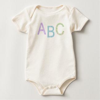 Tshirt do bebê de ABC