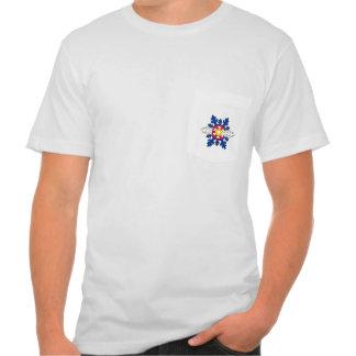 Tshirt do bolso dos homens do floco de neve da