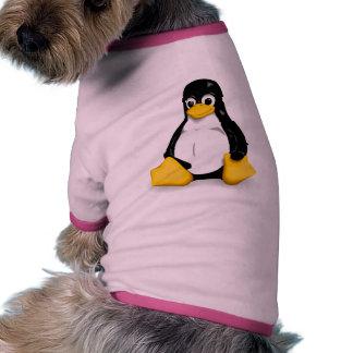Tshirt do cachorrinho de Linux Tux Roupa Para Pet