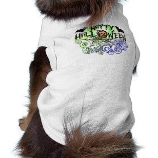Tshirt do cão - o Dia das Bruxas - o Dia das Bruxa Camisa Sem Mangas Para Cachorro