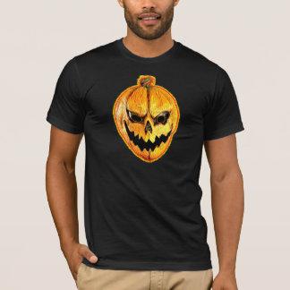 Tshirt do crânio da abóbora do Dia das Bruxas