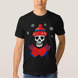 tshirt do crânio da neve