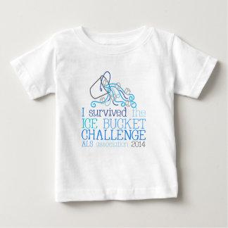 Tshirt do desafio do balde de gelo da criança -
