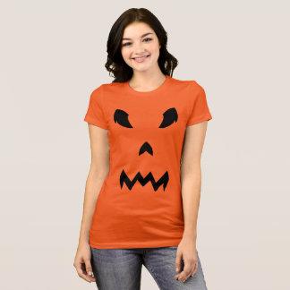 Tshirt do Dia das Bruxas da cara da abóbora