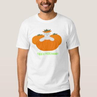 Tshirt do Dia das Bruxas do fantasma da abóbora