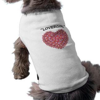 Tshirt do Doggy Camisa Sem Mangas Para Cachorro
