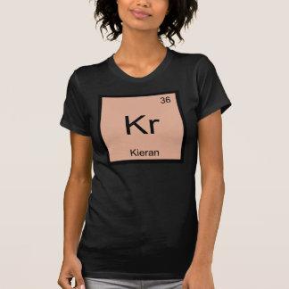 Tshirt Do elemento conhecido da química de Kieran mesa