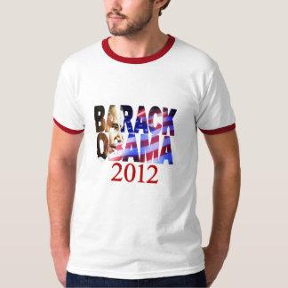 Tshirt do entalhe do perfil de Barack Obama 2012