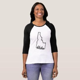Tshirt do esboço do estado de Idaho