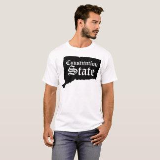 Tshirt do estado da constituição de Connecticut