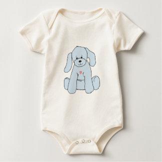 Tshirt do filhote de cachorro dos azuis bebés
