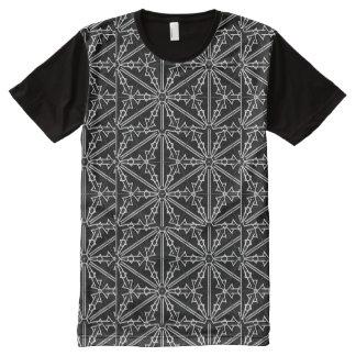 Tshirt do floco de neve camisetas com impressão frontal completa