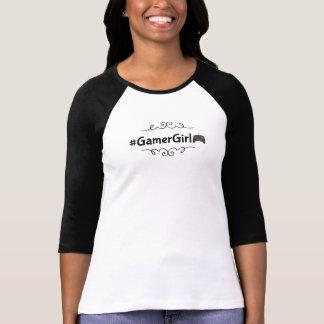 Tshirt do hashtag da menina do Gamer