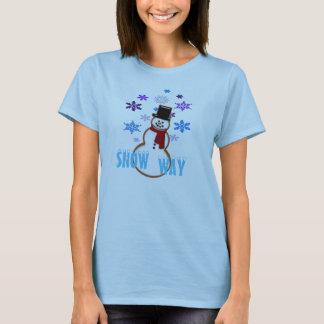 tshirt do Natal dos flocos da neve do homem da