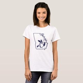 Tshirt do pêssego do estado de Geórgia