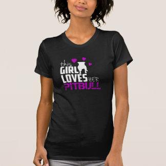 tshirt do pitbull para a mulher