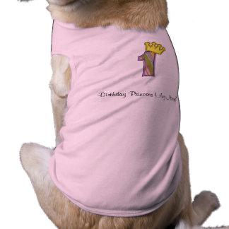 Tshirt do primeiro aniversario camisa sem mangas para cachorro