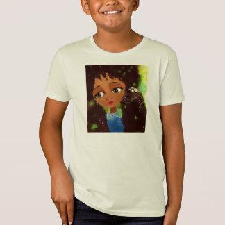 Tshirt do retrato da menina