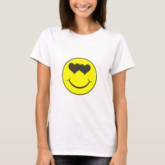 Tshirt do smiley do amor