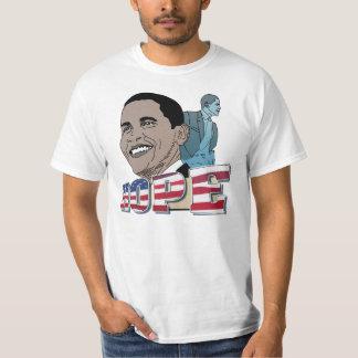 Tshirt do valor da esperança de Obama E.U.